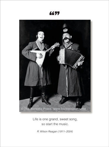 Birthday Card 1094HBa New Release Life Is One Grand Sweet Song So Start The Music R Wilson Reagan 1911 2004 Inside Happy