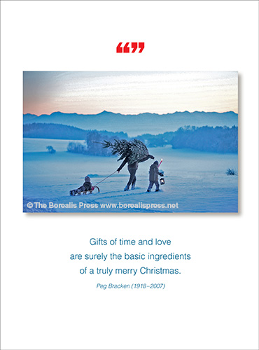 Holiday greeting cards the borealis press inc new boxed holiday card 947x box new release gifts of time and love are surely the basic ingredients of a truly merry christmas peg bracken 1918 2007 m4hsunfo